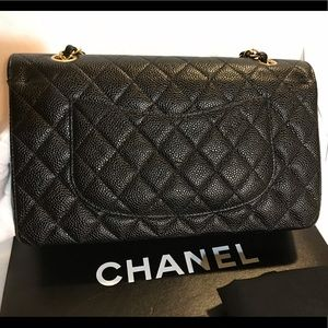 CHANEL Bags - SOLD!!! Classic Medium Double Flap Caviar 24K Gold